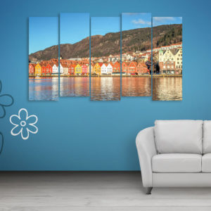 Multiple Frames Beautiful Europe Wall Painting for Living Room, Bedroom, Office, Hotels, Drawing Room (150cm x 76cm)