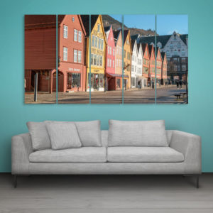 Multiple Frames Beautiful Europe City Wall Painting for Living Room, Bedroom, Office, Hotels, Drawing Room (150cm x 76cm)