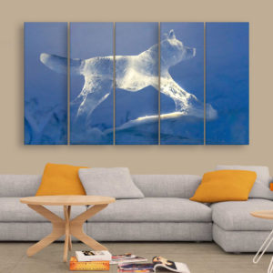 Multiple Frames Beautiful Ice Wall Painting for Living Room, Bedroom, Office, Hotels, Drawing Room (150cm x 76cm)