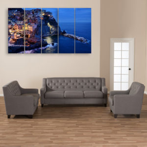 Multiple Frames Beautiful City Wall Painting for Living Room, Bedroom, Office, Hotels, Drawing Room (150cm x 76cm)