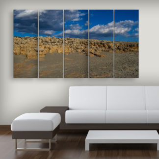 Multiple Frames Beautiful Desert Wall Painting for Living Room