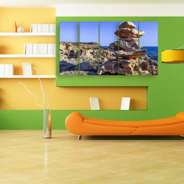 Multiple Frames Beautiful Beach Wall Painting for Living Room