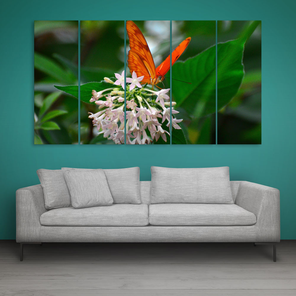 Multiple Frames Butterfly Wall Painting For Living Room Bedroom