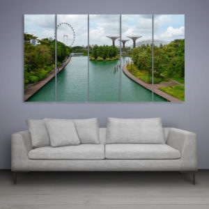 Multiple Frames Beautiful London Wall Painting for Living Room, Bedroom, Office, Hotels, Drawing Room (150cm x 76cm)