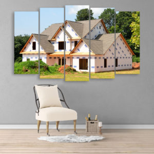 Multiple Frames Beautiful House Wall Painting for Living Room, Bedroom, Office, Hotels, Drawing Room (150cm x 76cm)