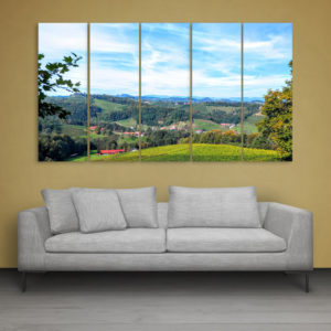 Multiple Frames Beautiful Forest Wall Painting for Living Room, Bedroom, Office, Hotels, Drawing Room (150cm x 76cm)