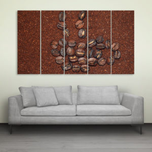 Multiple Frames Beautiful Coffee Beans Wall Painting for Living Room, Bedroom, Office, Hotels, Drawing Room (150cm x 76cm)