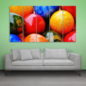 Multiple Frames Beautiful Easter Eggs Wall Painting for Living Room, Bedroom, Office, Hotels, Drawing Room (150cm x 76cm)