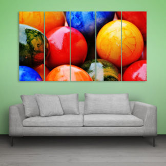 Multiple Frames Beautiful Easter Eggs Wall Painting for Living Room