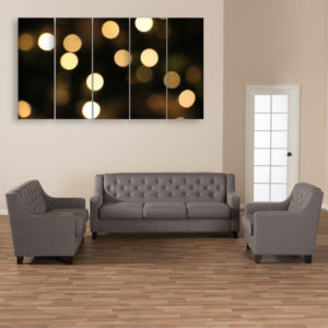 Multiple Frames Beautiful Lights Wall Painting for Living Room, Bedroom, Office, Hotels, Drawing Room (150cm x 76cm)