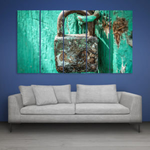 Multiple Frames Beautiful Lock Wall Painting for Living Room, Bedroom, Office, Hotels, Drawing Room (150cm x 76cm)
