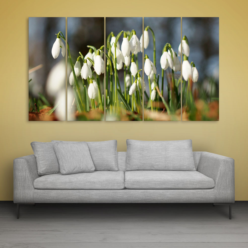 Multiple Frames Beautiful Flowers Wall Painting For Living Room Bedroom Office Hotels Drawing Room 150cm X 76cm