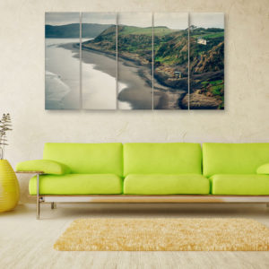 Multiple Frames Beautiful Island Wall Painting for Living Room, Bedroom, Office, Hotels, Drawing Room (150cm x 76cm)