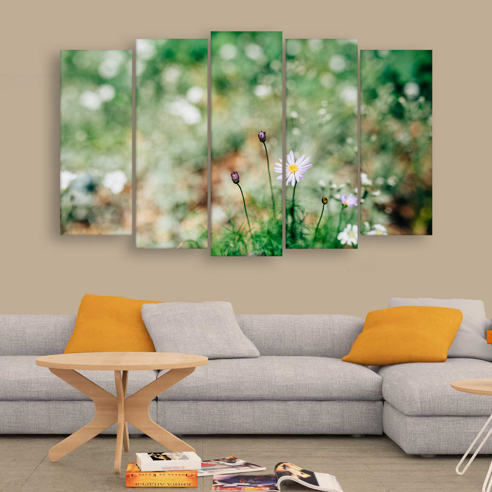 Multiple Frames Beautiful Flower Wall Painting For Living Room Bedroom Office Hotels Drawing Room 150cm X 76cm Inephos