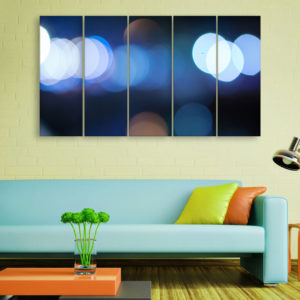 Multiple Frames Beautiful Blurred Lights Wall Painting for Living Room, Bedroom, Office, Hotels, Drawing Room (150cm x 76cm)