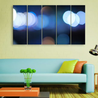 Multiple Frames Beautiful Blurred Lights Wall Painting for Living Room