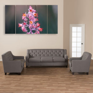 Multiple Frames Beautiful Flower Plant Wall Painting for Living Room, Bedroom, Office, Hotels, Drawing Room (150cm x 76cm)