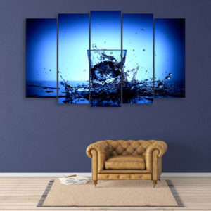 Multiple Frames Beautiful Glass Wall Painting for Living Room, Bedroom, Office, Hotels, Drawing Room (150cm x 76cm)