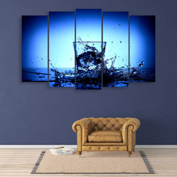 Multiple Frames Beautiful Glass Wall Painting for Living Room