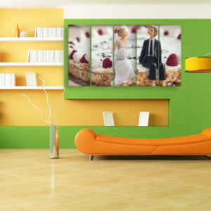 Multiple Frames Beautiful Cake Wall Painting for Living Room, Bedroom, Office, Hotels, Drawing Room (150cm x 76cm)